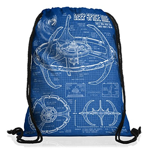 style3 Deep Space Nine Borsa da spalla sacco sacchetto drawstring bag gymsac trek trekkie star