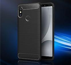 Bracevor Xiaomi Redmi Note 5 Pro Back Case Cover | Flexible Shockproof TPU | Brushed Texture - Black