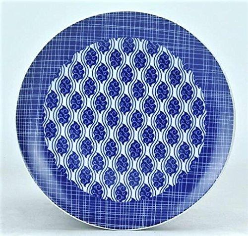 Jameson & Tailor 'Assiette Nippon Porcelaine 19 cm Paisley/Lignes Bleu Lot de 4