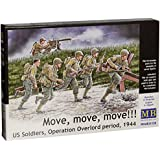 """Masterbox 1:35 Scale US Soldiers, Operation Overlord """"Move, Move, Move!"""" Figure"""