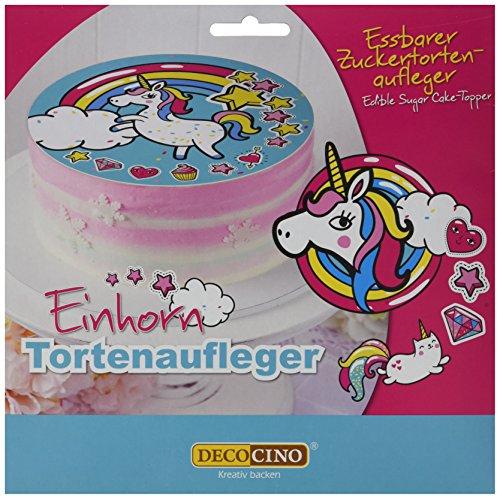 Dekoback Zucker-Tortenaufleger Einhorn, 1er Pack (1 x 13 g)