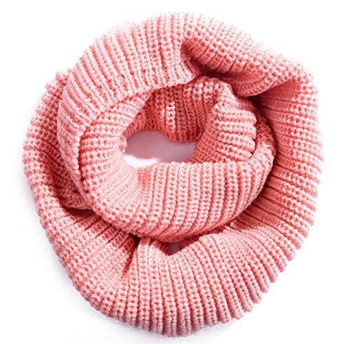 HDE Damen Knit Infinity Schal Winter Warm Dick Hals Wrap Kreis Loop Schal, Pink, HDE-T168