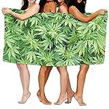 Weed Pot Leaf Badetuch Vibrant Strand/Bad/Pool Handtuch 130x 80cm