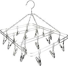 JINM 20/24Clip Socke Unterwäsche Kleidung Outdoor Wäscheständer Trockner Wäsche Aufhänger Edelstahl Quadratisch Draht Clip Kleidung Rack Socke Trockner Rack