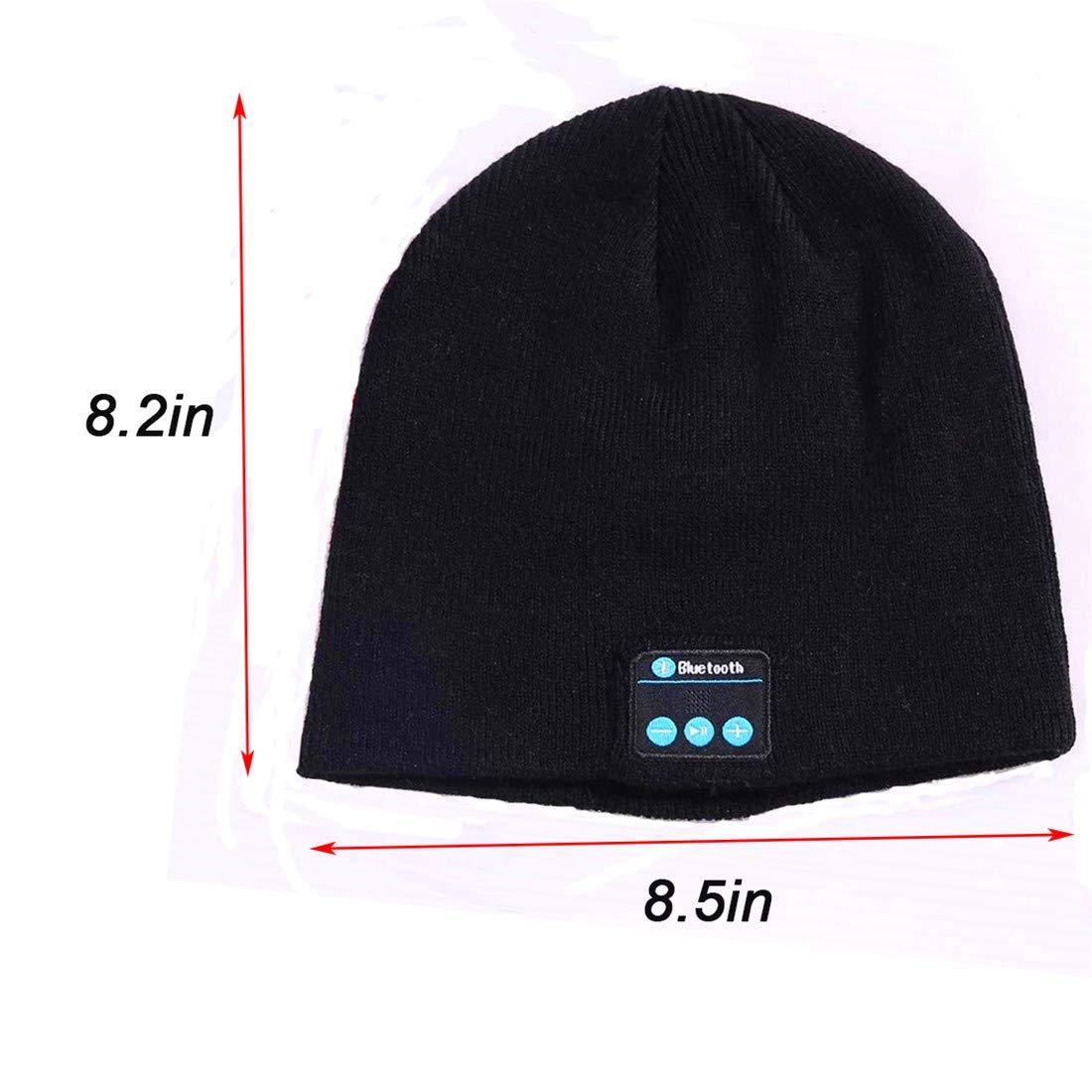 Berretto Bluetooth Cappello Musicale Beanie Invernale Auricolare Bluetooth  Lavabile Cuffia in Maglia Calda Morbida Ricevere chiamate e Musica a  Ricezione ... f173b07fb752