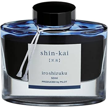 Pilot Iroshizuku Fountain Pen Ink - 50 ml Bottle - Shin-kai Deep Sea (Blue Gray) (japan import)