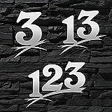 Hausnummer Edelstahl gebürstet Sonderanfertigung in groß (1-stellig / 16cm Ziffernhöhe) 20cm 30cm - auch mit Buchstabe-n erhältlich - Original ALEZZIO DESIGN - Rostfrei - Sonderanfertigung-en nach Maß