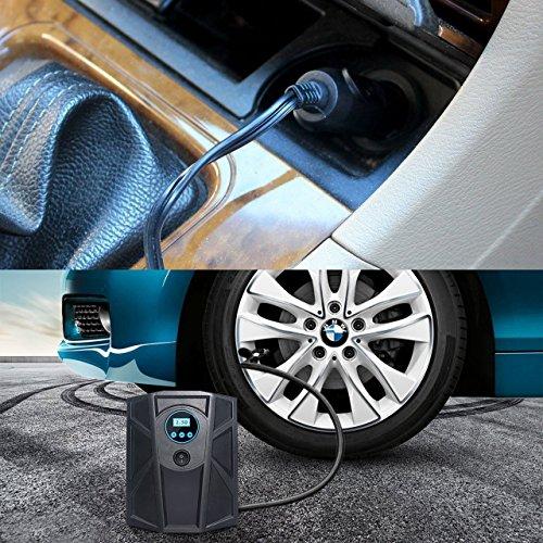 Auto Fahrzeug Pumpe Luftpumpe Air Kompressor Portable Tragbar 12V 100 PSI Digital Tire Inflator Compressor Reifen Aufblasgerät Zigarettenstecker für Autos Trucks Motorräder Aufblasbare Betten usw. - 6