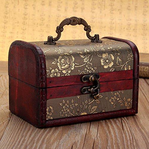 Scatola di legno Charminer stile sakura monili di legno storage box organizzatore