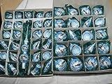 Baumkugelset 46teilig eisblau mundgeblasen handdekoriert