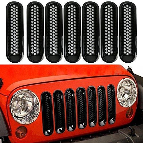 2015/Jeep 7/pi/èces//Lot Tuincyn Jeep Grille Jeep Wrangler en maille Grill avant Insert kit Noir pour pour 2007