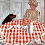 POSTERLOUNGE Canvas print 30 x 30 cm: The Dog's Dinner by Pierre Bonnard/akg-images - ready-to-hang wall picture, stretched on canvas frame, printed image on pure canvas fabric, canvas print