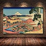 mmzki Stile Giapponese Kanagawa Surf Tela Pittura Impressionista Poster Wall Art F Soggiorno Katsushika Hokusai Poster Decorazioni per la casa