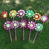 ECMQS 10 STÜCK Sonnenblume Windmühle Kid Spielzeug, Garten Dekoration Ornament Bunte Freien Wind Spinner