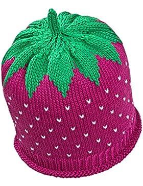 Fruchtige Erdbeer-Sommermütze für Babys & Kleinkinder in fuchsia