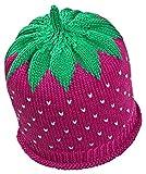 Fruchtige Erdbeer-Sommermütze für Babys & Kleinkinder in fuchsia, Kopfumfang 50-52cm