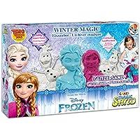 Craze 54230 - Magic Sand Frozen Winter Magic Box., ca. 600g Sand mit Glitzer in 3 Verschiedenen Farben