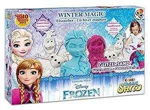 CRAZE 54230-Magic Arena Frozen Winter Magic Box. Aprox. 600g Arena con Purpurina en 3Colores Diferentes
