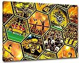 Dortmund Mosaik, Bild auf Leinwand XXL , fertig gerahmt,