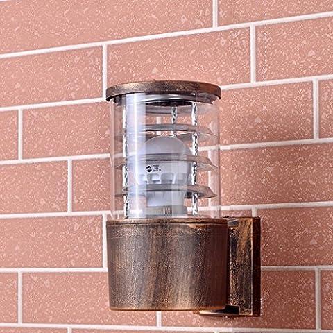Outdoor Waterproof Light Lampe de chevet moderne simple Salle de bain Balcon Couloir Extérieur Applique en aluminium Tube en aluminium ( Size : Flat )