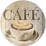 WENKO Sottopentola Café, Vetro temperato, 20 x 0.8 x 20 cm, Multicolore