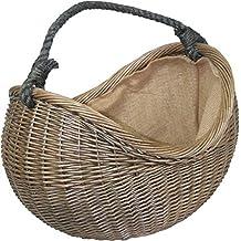 Antico Lavare Handled corda di vimini cestino di trasporto