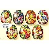 Ostereier Farbe. Schrumpffolie.Zhostovo. Russische Malerei aus Schostowo. Nr.25 reicht für 7 Eier