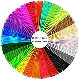 Kaotoer PLA 3D Pen Filament Refills 26 Farben- 1.75mm PLA 32 Feet Jede Farbe 850 Lineare Füße Enthält 6 Glow in the Dark 4 Fluo Farben