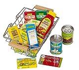 Polly 8802 Kaufmannsladen Zubehör Naturkost Einkaufskorb gefüllt mit Bio-Produkten