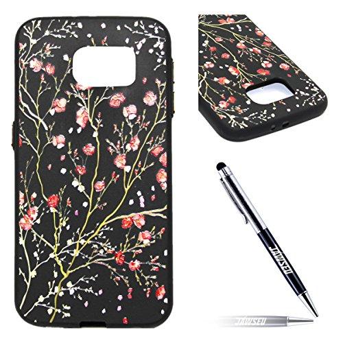 Galaxy-S6-Custodia-Galaxy-S6-Cover-Nero-JAWSEU-Samsung-Galaxy-S6-G920-Protezione-Case-Cassa-Gomma-Morbida-Gel-Silicone-Custodia-per-Samsung-Galaxy-S6-Cover-Protectiva-Bumper-per-Samsung-Galaxy-S6-Cope