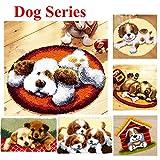 15 Modell Dog Knüpfkissen Latch Hook Kit Rug Dog023 50