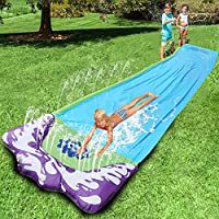 Water Slide Inflatables For Kids Adults Backyard | Water-sports Giant Water-slides | Summer Water Toys Outdoor Grass Water Spray Slip Sheets Surfboard Garden Toy 72×474CM