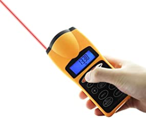 MK Ultrasonic Laser Distance Measure Meter Laser Pointer 60 Ft / 18 Mt With LCD Display