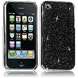 Seluxion - Housse Etui Coque Rigide pour Apple iPhone 3G/3GS Style Paillette Couleur Noir