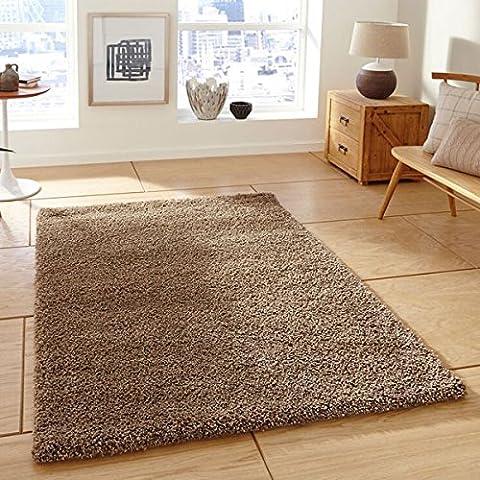 Grueso ufoil pila lanudo alfombra de polipropileno suave hecho a máquina alfombra signicase Grande (varios colores y tamaños), tela, marrón, 160 x 230 cm
