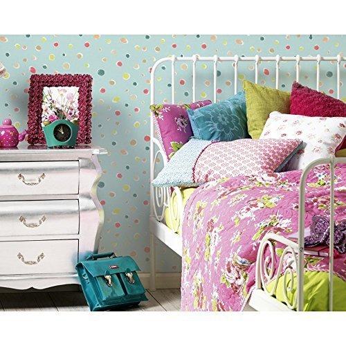 as-creation-oilily-spots-dots-pattern-paint-circles-motif-textured-wallpaper-blue-961231