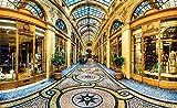 Tapeto Fototapete - Stadt Mailand Passage Geschäfte - Vlies 368 x 254 cm (Breite x Höhe) - Wandbild Luxus Reisen