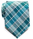 Corbata de microfibra con estampado a cuadros moderna para hombres de Retreez - Turquesa