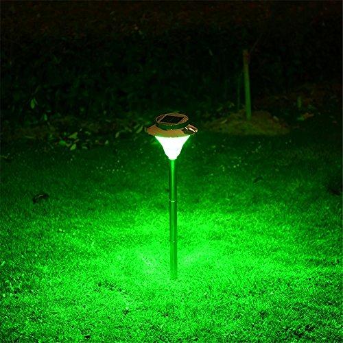 HomJo Solar LED Garden Spotlight Solar Lichter im Freien Garten Lichter Hause wasserdicht Garten Landschaft Rasen Licht geführt Outdoor Stigma Lichter super hell , 18