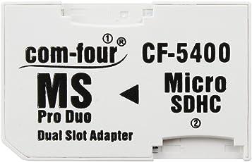 Doppio Micro SD a MS PRO DUO Adattatore di Scheda Memoria Microsd a Memory Stick per Sony PSP Camera Phone Max. 32GB