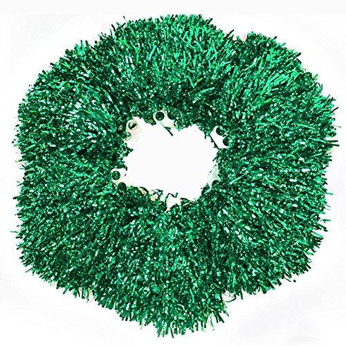 Aerobic Kostüm Dance - Pompons aus Kunststoff, 6 Stück, Cheerleading Aerobic Pompons Handblume mit Ring Design für Tanzpartys, Wettkampf, 5 Farben, grün