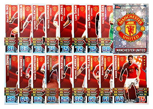 MATCH ATTAX 2015 2016   MANCHESTER UNITED 17 BASE CARDS   CLUB BADGE