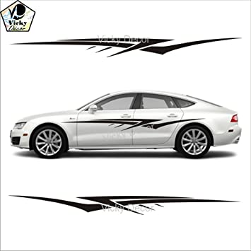 Vicky Decor Car Sticker Side CRS Full Body Vinyl Car Decal Size - Car body graphics for alto