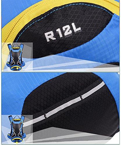 peiji Wasserdicht 12L Outdoor Wandern Fahrrad Radfahren Reiten Rucksack Packsack Tasche blau