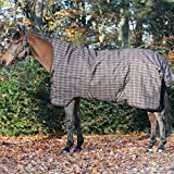 Pferde Winterdecke Horseware Rhino Wug (Regendecke) 145cm 200g Füllung Chocolate with Cream check with Chocolate