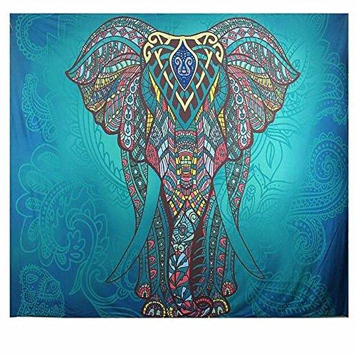 PYHQ Mandalas Elefante Tapices 100% Poliéster Colgando Mural Cobija Hippies bohemios Lámina...