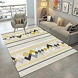 L&Z Plaid-Gestreifter Teppich Einfacher und moderner Art waschbarer Rutschfeste rechteckige Wolldecken, Sofa Kaffee Tabellen Teppich für Wohnzimmer Schlafzimmer Bett Haus (Größe: 60 * 90CM)