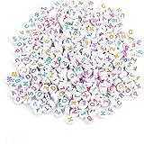 Hilitand 500 unids 7 Colores Granos de la Letra de acrílico A-Z Granos Redondos del Alfabeto para DIY Collar de la Pulsera pa
