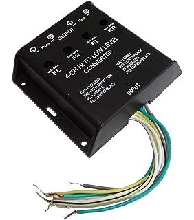 Cinch Convertisseur Converter Auto radio Câble Low Level Convertisseur Adaptateur Car Audio