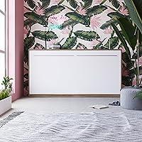SMARTBett Schrankbett 90x200 cm horizontal Nussbaum / Weiss, Farbauswahl, Wandbett, Bettschrank, Klappbett